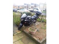 Black Suzuki Bandit 1255cc with side panels and back box