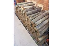 120 WOODEN GARDEN STAKES SUITABLE FIR WOOD BURNERS