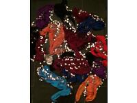 16 belly dancing Indian skirt wraps