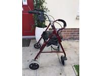 Mobility Walking frame aid with seat & storage
