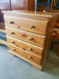 Pine chest of four drawers