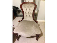 Victorian chair in grey