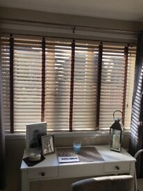 REAL WOODEN BLINDS WITH TAPES