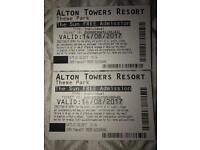 Alton tower tickets 14/08/17