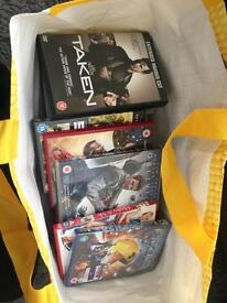 Bag of dvds some new in wrapping and some used all in good condition new release and old ones