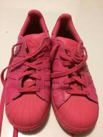 Adidas superstars pink size 5.5