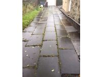 concrete flag stone - about 100 - about 70sq meters