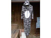 Striped Cat onesie- Size 10-12