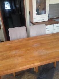 Lovely solid wood table and chairs