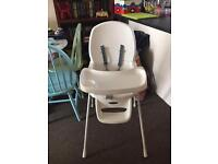 White highchair great condition FREE