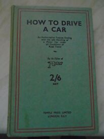 VINTAGE BOOK - HOW TO DRIVE A CAR