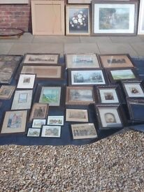 Old pictures and frames