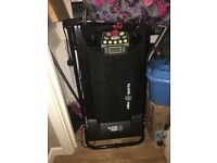 Treadmill folds up £80