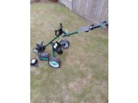 Hillbilly All-Terrain electric golf trolley + Battery + Charger - superb