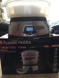 Russell Hobbs 3 Tier Digital Steamer 23560, 9 L - Stainless Steel