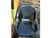 4 x garden chairs - black