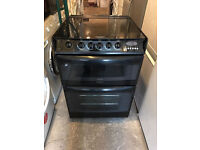 Black Cannon 60cm Wide Gas Cooker (Fully Working & 4 Month Warranty)