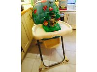 Fisher Price rainforest high chair/ feeding chair