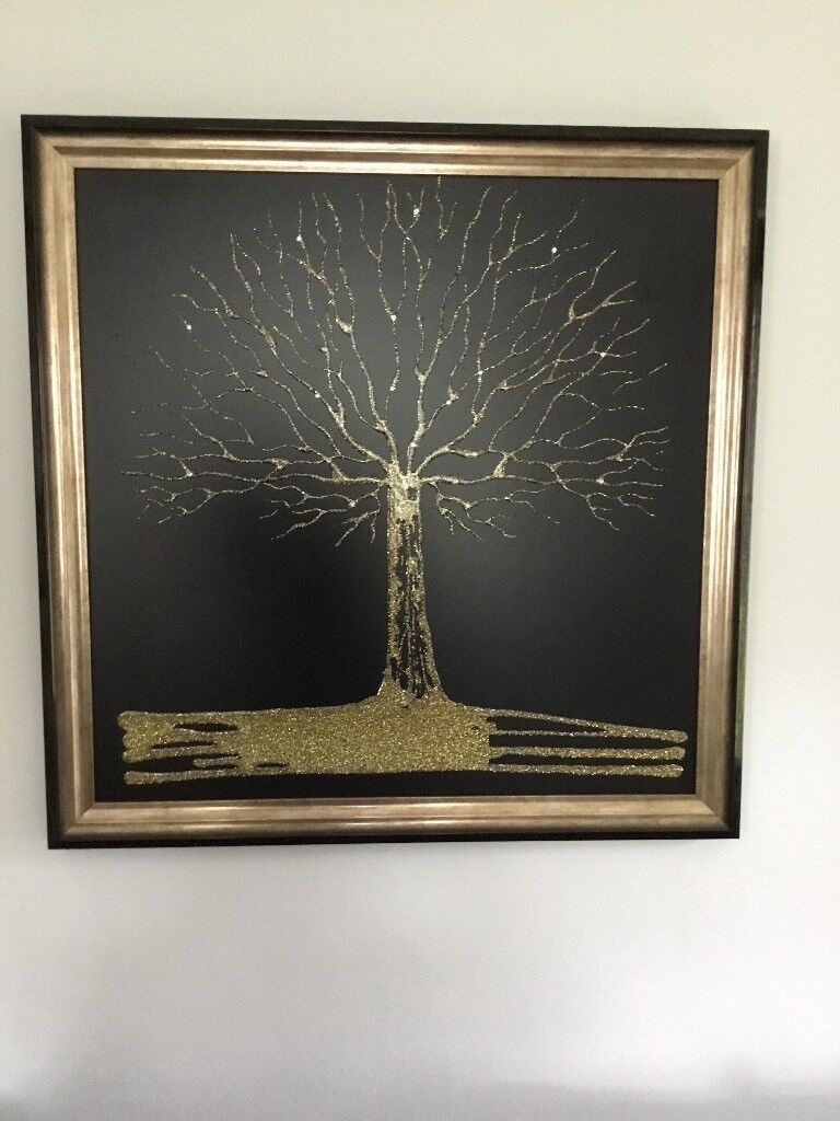 3bad23251045f STUNNING LIQUID GLASS MADE WITH SWAROVSKI CRYSTALS WALL ART/PICTURE   in  Thornhill, Cardiff   Gumtree