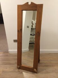 Solid pine floor mirror, very good quality