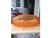 Alessi designer bread bin. Orange.