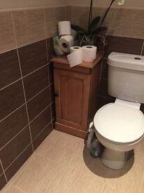 small pine free standing bathroom cabinet
