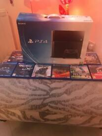 PS4 500gb with 2 controllers and 8 games like new