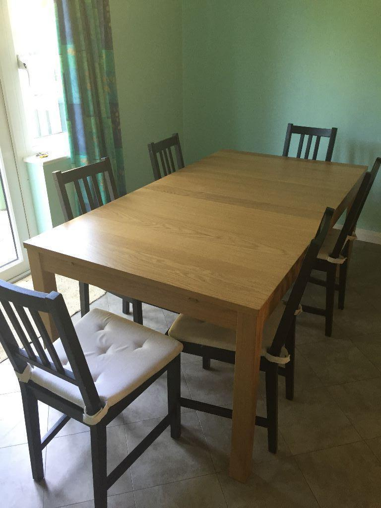 Ikea s dining extensible table 6 chairs in ashtead surrey gumtree - Ikea table extensible ...