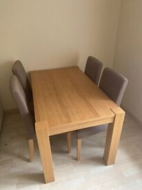Dinning table, 4 chairs