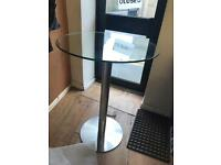 Glass 4 seater Bistro table