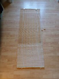 Free To Collect: Bamboo Roller Blind 60cm x 160cm with hook fixings