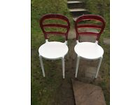 2 x bistro/dining room chairs