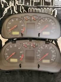 Volkswagen golf mk4 dash clocks pair