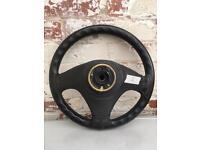 Vauxhall Cavalier Astra Calibra leather steering wheel