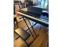Yamaha P105 Portable Digital Piano with Stand and Stool