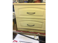 Drawers - cream colour - idea for use as storage in shed or garage - for sale