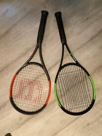 WILSON TENNIS RACKETS - BURN AND BLADE