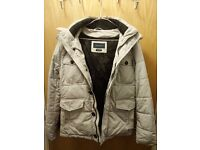 Zara Man original Winter Jacket with detachable Hoodie (Light Grey)