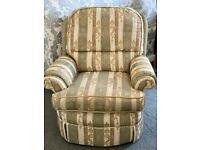 TraditionaL British Sofa Chair (Solid-Wood & high Quality Fabric)