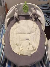 Ziggy Zebra Baby Bouncer Chair