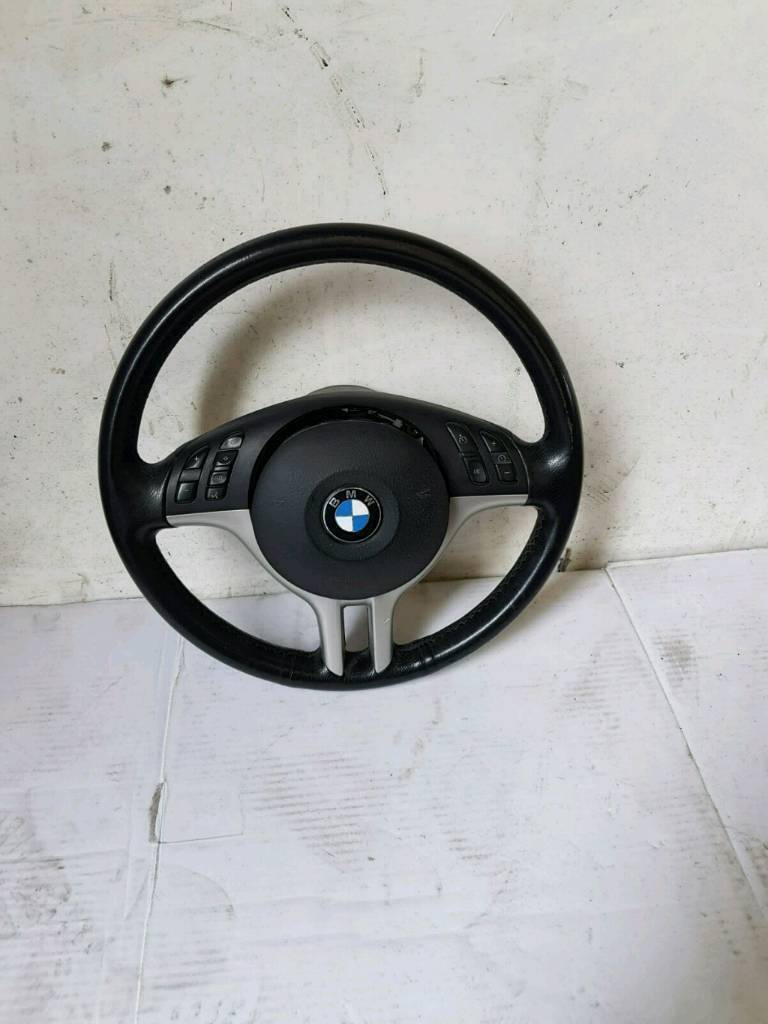 BMW E46 3 SERIES SALOON TOURING COUPE STEERING WHEEL WITH AIRBAG BREAKING BMW