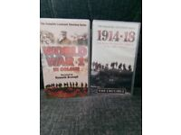 VHS VIDEO TAPES WW1