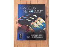 Igneous petrology textbook