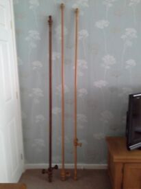 WOODEN CURTAIN POLES WITH FITTINGS