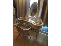 Beautiful shabby chic dressing table with mirror