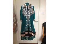 Green Asian Long-Dress