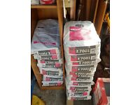 15 bags of grey fast setting flexible floor tile adhesive