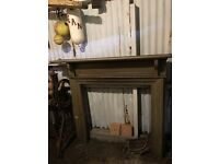 Antique Wooden Fireplace surround and mantlepiece