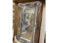 Stunning large opulent twin framed champagne coloured leaner mirror
