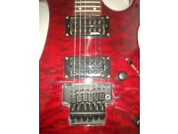 Electric guitar, Vintage Metal AXXE-Wraith, Blood Red, 24 frets etc.
